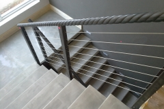 3. Cantilever with Chamfered Nosing & Mild Steel plus Cable Balustrade
