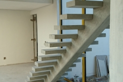 2. QUICK-STEP Floating Staircase Straight Flight - Construction Photograph