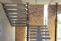 Combined Cantilever & Floating Concrete Staircase - Construction Photograph