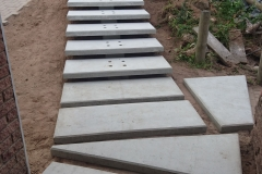 Floating Entrance Steps - Construction Photograph