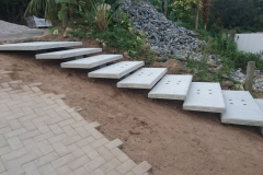 Floating Steps - Construction Photograph